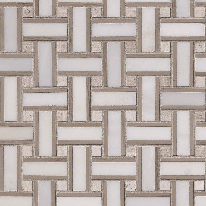 DECORATIVE MOSAICS, Tiles and Flooring msi-tiles-flooring-renaissance-basketweave-SMOT-RENAI-BW10MM