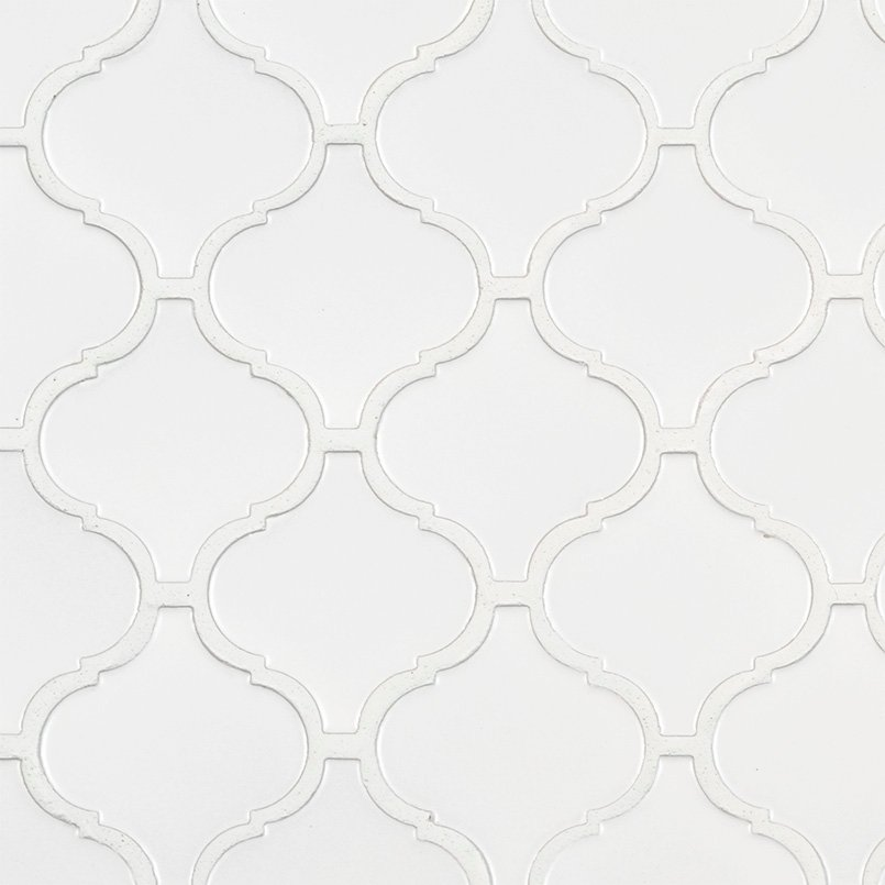 DECORATIVE MOSAICS, DOMINO COLLECTION, Tiles and Flooring msi-tiles-flooring-retro-arabesque-bianco-matte-SMOT-PT-RETBIA-ARABESQUEM