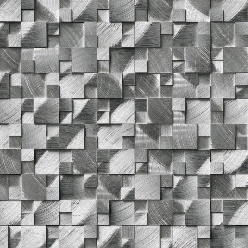 DECORATIVE MOSAICS, Tiles and Flooring msi-tiles-flooring-silver-aluminum-brushed-3d-SMOT-MET-SLVAL