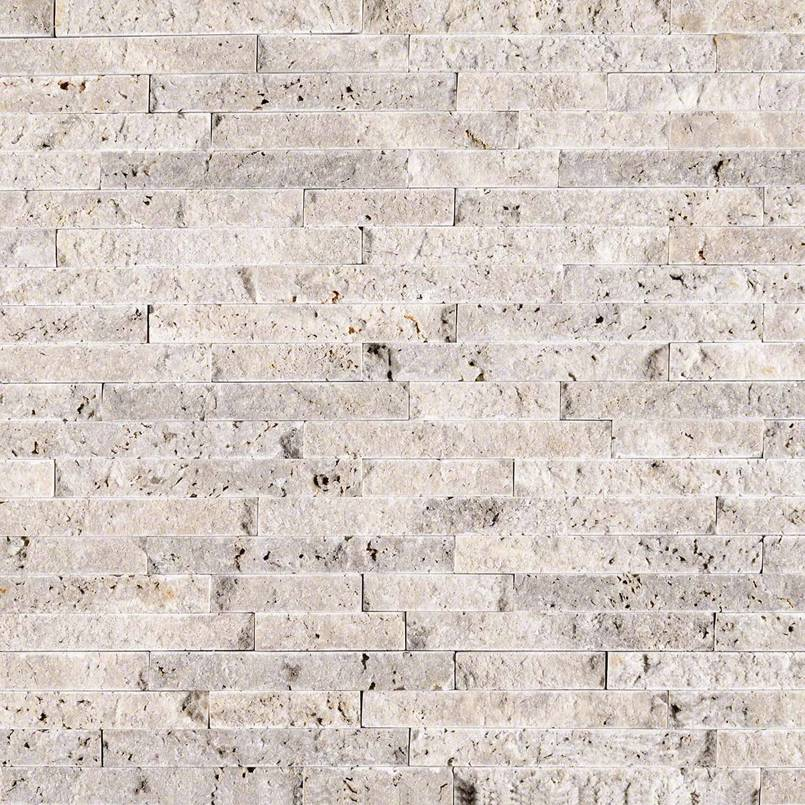 NATURAL STONE TRAVERTINE COLLECTIONS, Tiles and Flooring msi-tiles-flooring-silver-travertine-splitface-interlocking-mosaic-SMOT-SILTRA-SF10MM