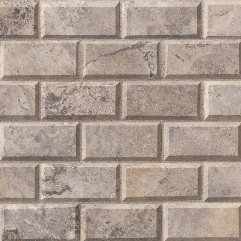 NATURAL STONE TRAVERTINE COLLECTIONS, Tiles and Flooring msi-tiles-flooring-silver-travertine-2x4-mosaic-SMOT-SILTRA-2x4HB