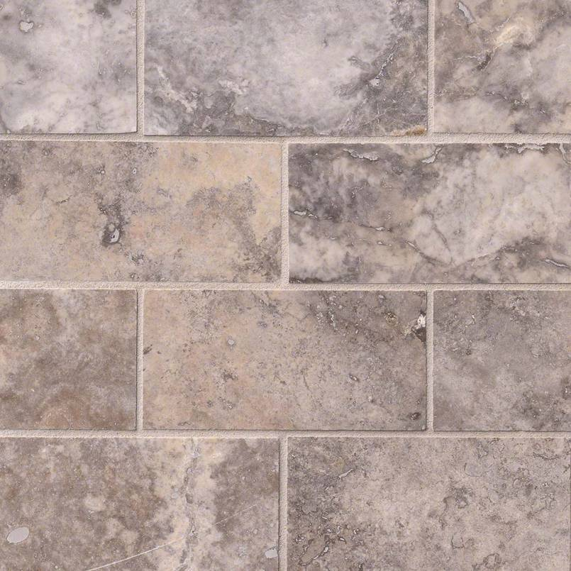 NATURAL STONE TRAVERTINE COLLECTIONS, Tiles and Flooring msi-tiles-flooring-silver-travertine-3x6-TTSILTR36H