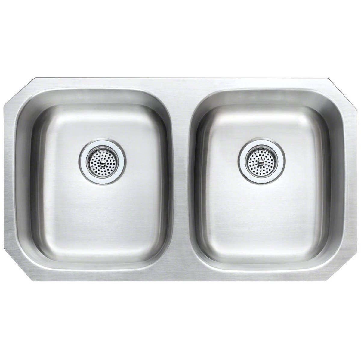 Sinks -ss-18-gau-double-bowl-50-50-3118-SIN-18-DBLBWL-5050-3118