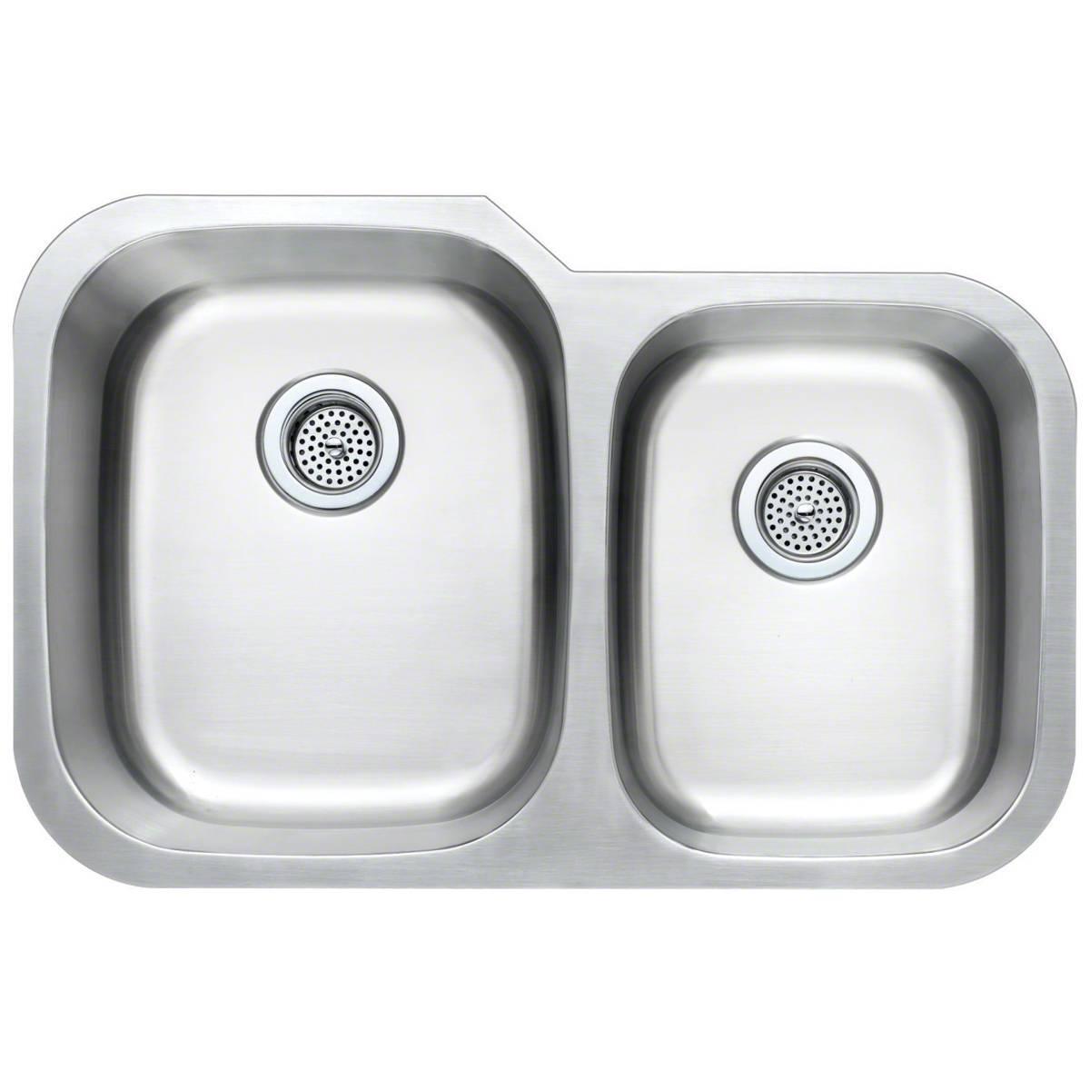 Sinks -ss-18-gau-double-bowl-60-40-3120s-SIN-18-DBLBWL-6040-3120S