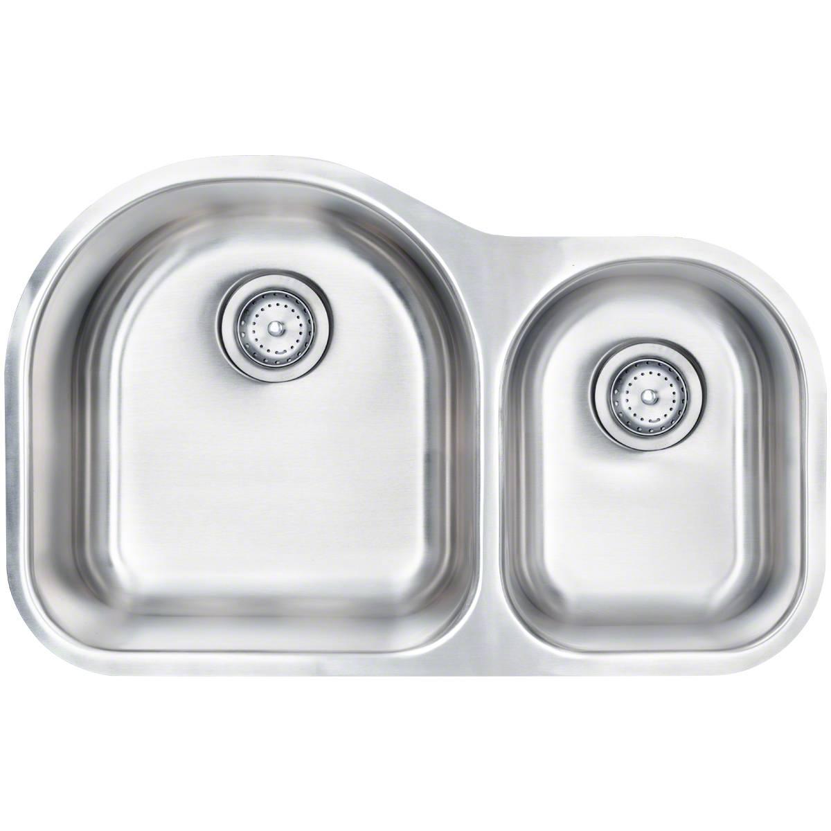 Sinks -ss-18-gau-double-bowl-60-40-3120-SIN-18-DBLBWL-6040-3120