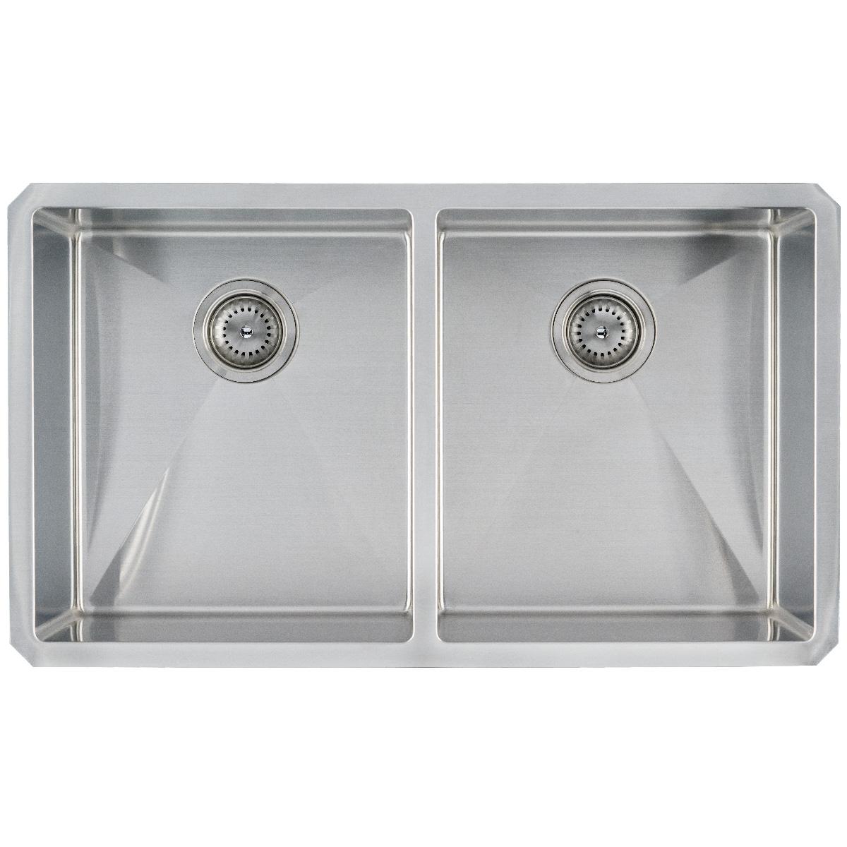 Sinks -ss-16-gau-handcrafted-double-bowl-50-50-3219-SIN-16-DBLBWL-WEL-5050-3219