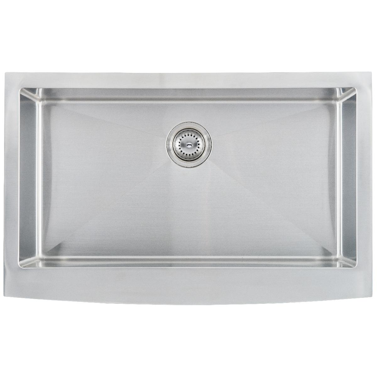 Sinks -ss-16-gau-farmhouse-with-apron-single-bowl-3321-SIN-16-SINBWL-WEL-3321FSAF