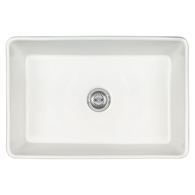 Sinks -porcelain-fireclay-farmhouse-with-apron-sb-white-3020-SIN-POR-USBWH-3020FSAF