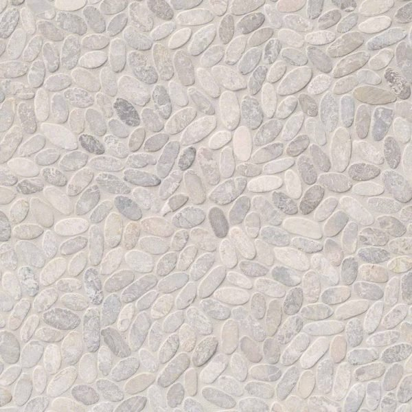DECORATIVE MOSAICS, RIO LAGO COLLECTION, Tiles and Flooring msi-tiles-flooring-sliced-ash-pebbles-mesh-backed-SMOT-PEB-ASH