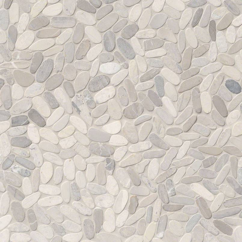 DECORATIVE MOSAICS, RIO LAGO COLLECTION, Tiles and Flooring msi-tiles-flooring-sliced-truffle-pebbles-mesh-backed-SMOT-PEB-TRUFFLE