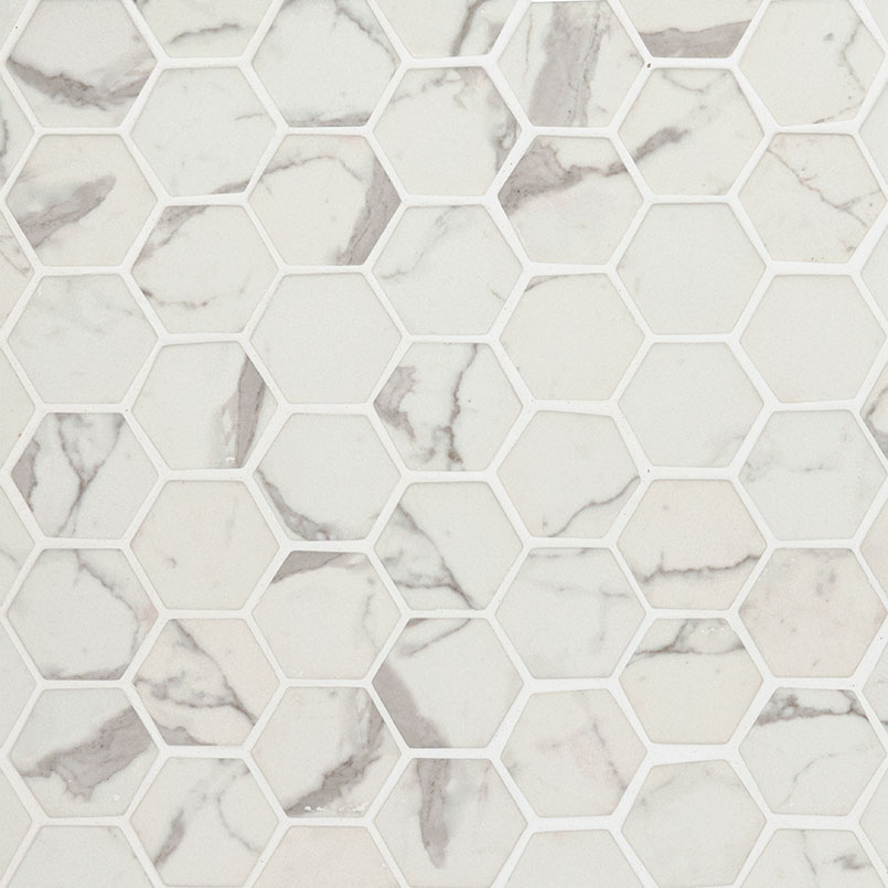 DECORATIVE MOSAICS, Tiles and Flooring msi-tiles-flooring-statuario-celano-2-hexagon-SMOT-GLS-STACEL6MM