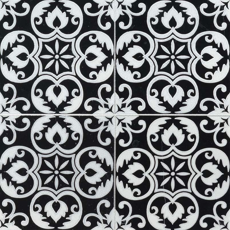 DECORATIVE MOSAICS, Tiles and Flooring msi-tiles-flooring-tetris-florita-nero-TTETNERO66
