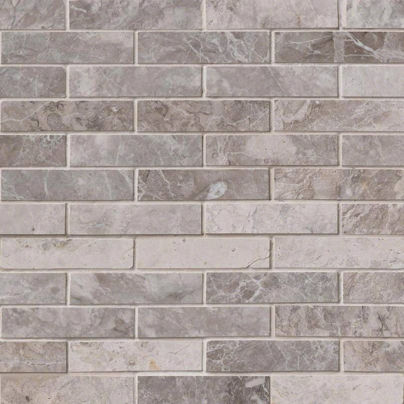 NATURAL STONE MARBLE COLLECTIONS, Tiles and Flooring msi-tiles-flooring-tundra-gray-1x4-mosaic-SMOT-TUNGRY-1X4P