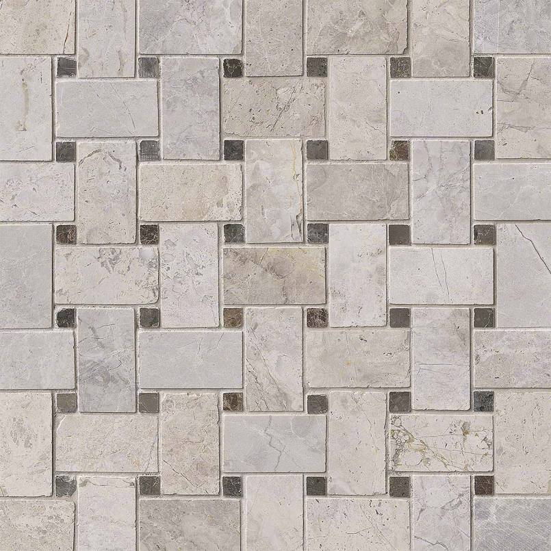 NATURAL STONE MARBLE COLLECTIONS, Tiles and Flooring msi-tiles-flooring-tundra-gray-basket-weave-mosaic-SMOT-TUNGRY-BWP