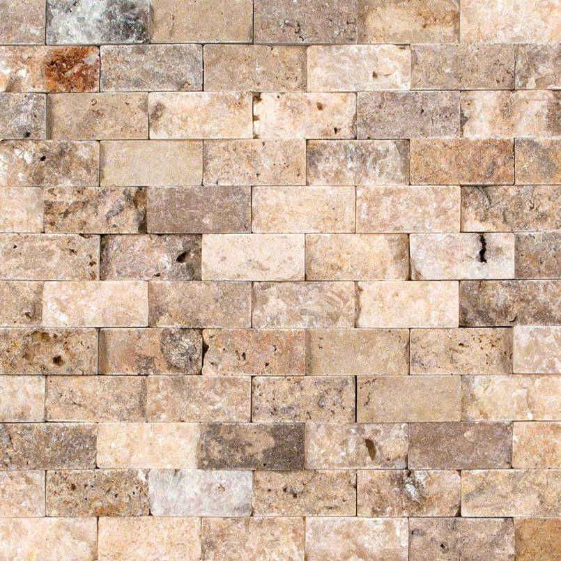 NATURAL STONE TRAVERTINE COLLECTIONS, Tiles and Flooring msi-tiles-flooring-tuscany-scabas-1x2-splitface-mosaic-SMOT-SCAB-1X2SF