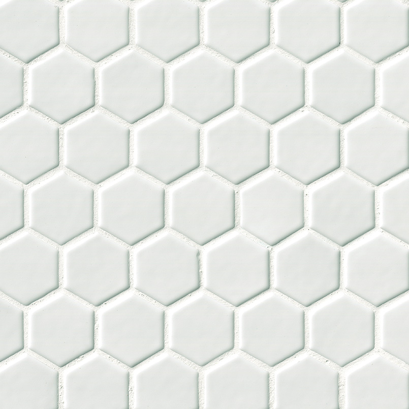 DECORATIVE MOSAICS, HIGHLAND PARK COLLECTION, Tiles and Flooring msi-tiles-flooring-whisper-white-hexagon-SMOT-PT-WW-2HEX