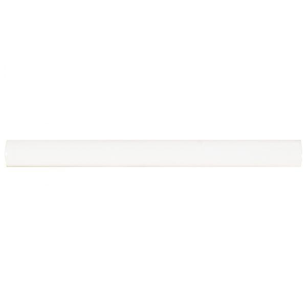 DECORATIVE MOSAICS, HIGHLAND PARK COLLECTION, Tiles and Flooring msi-tiles-flooring-whisper-white-quarter-round-molding-SMOT-PT-QTRRD-WW5/8X6