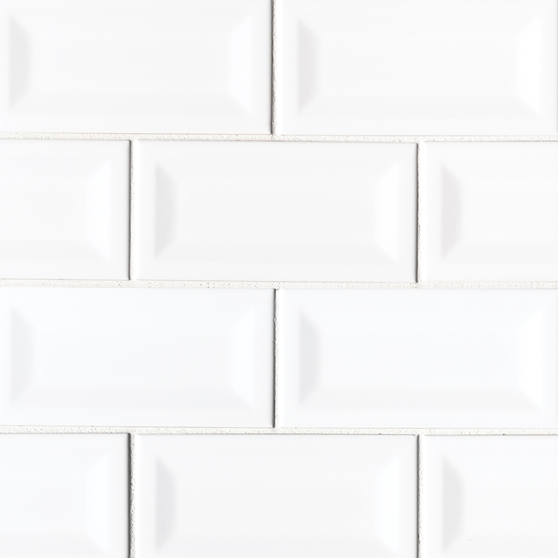 DECORATIVE MOSAICS, DOMINO COLLECTION, Tiles and Flooring msi-tiles-flooring-white-glossy-3x6-inverted-beveled-NWHIGLO3X6INVBEV
