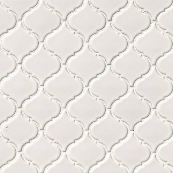 DECORATIVE MOSAICS, DOMINO COLLECTION, Tiles and Flooring msi-tiles-flooring-white-glossy-arabesque-NWHIARAG