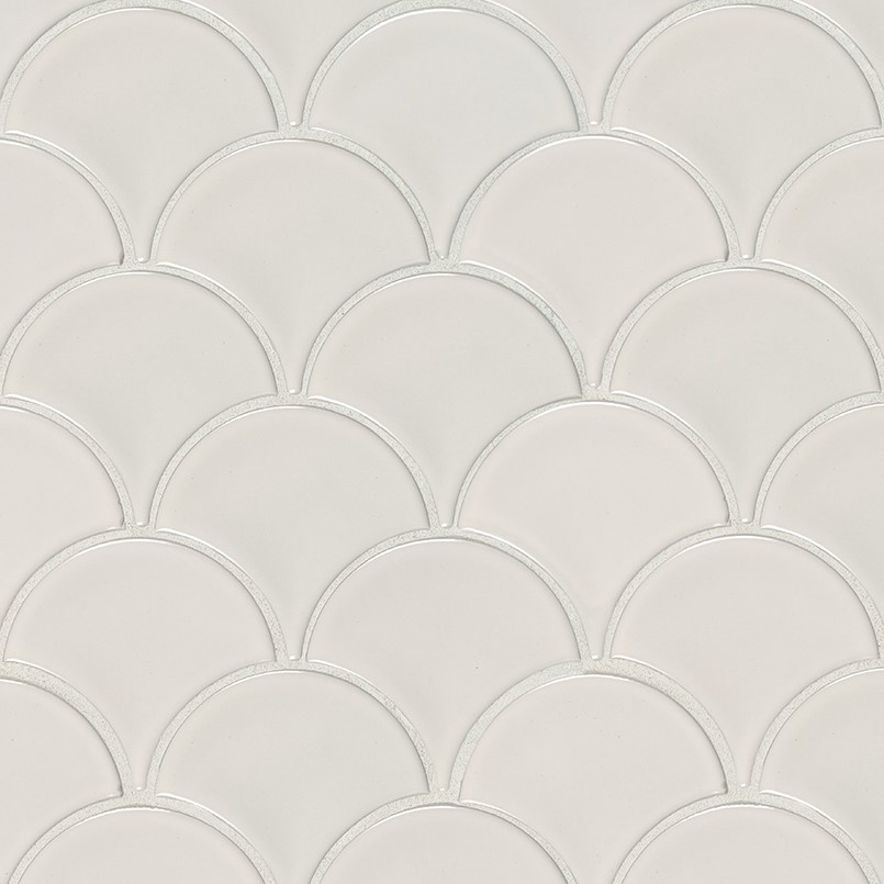 DECORATIVE MOSAICS, DOMINO COLLECTION, Tiles and Flooring msi-tiles-flooring-white-glossy-fish-scale-NWHIFISG