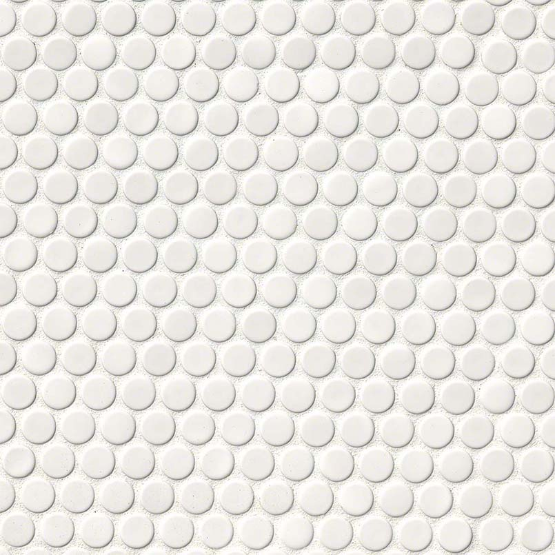 DECORATIVE MOSAICS, DOMINO COLLECTION, Tiles and Flooring msi-tiles-flooring-white-glossy-penny-round-NWHIPENROU