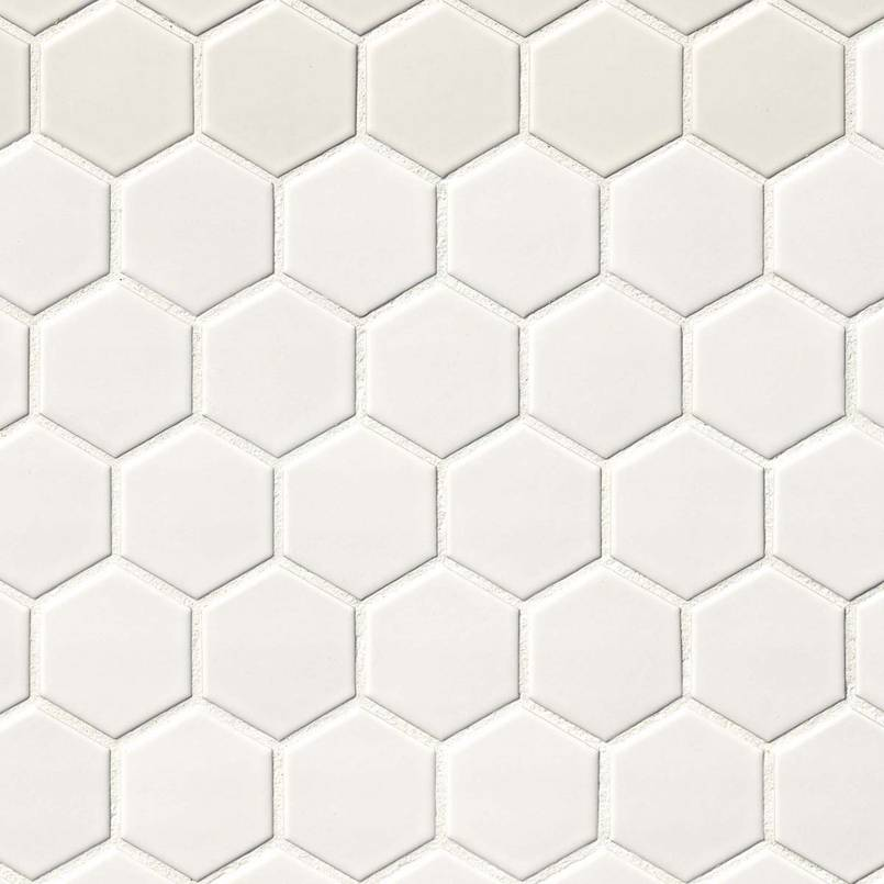 DECORATIVE MOSAICS, DOMINO COLLECTION, Tiles and Flooring msi-tiles-flooring-white-2x2-hexagon-NWHIHEX2X2