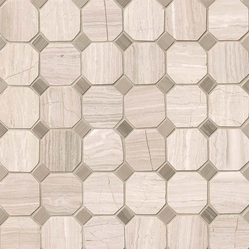NATURAL STONE MARBLE COLLECTIONS, Tiles and Flooring msi-tiles-flooring-white-oak-octagon-SMOT-WHTOAK-2OCT