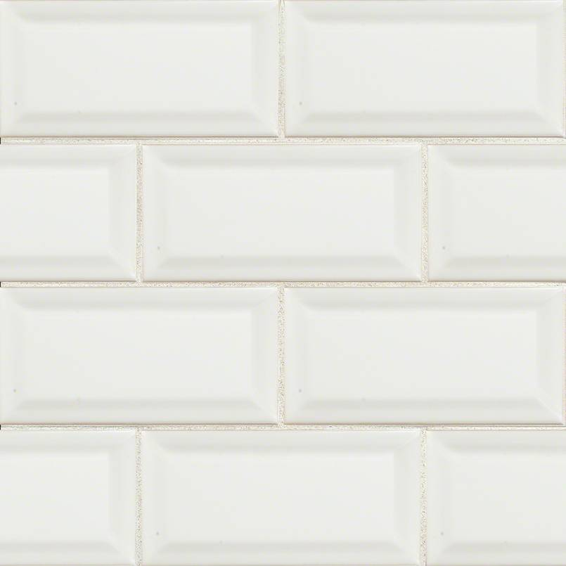 DECORATIVE MOSAICS, DOMINO COLLECTION, Tiles and Flooring msi-tiles-flooring-white-glossy-3x6-beveled-NWHIGLO3X6BEV