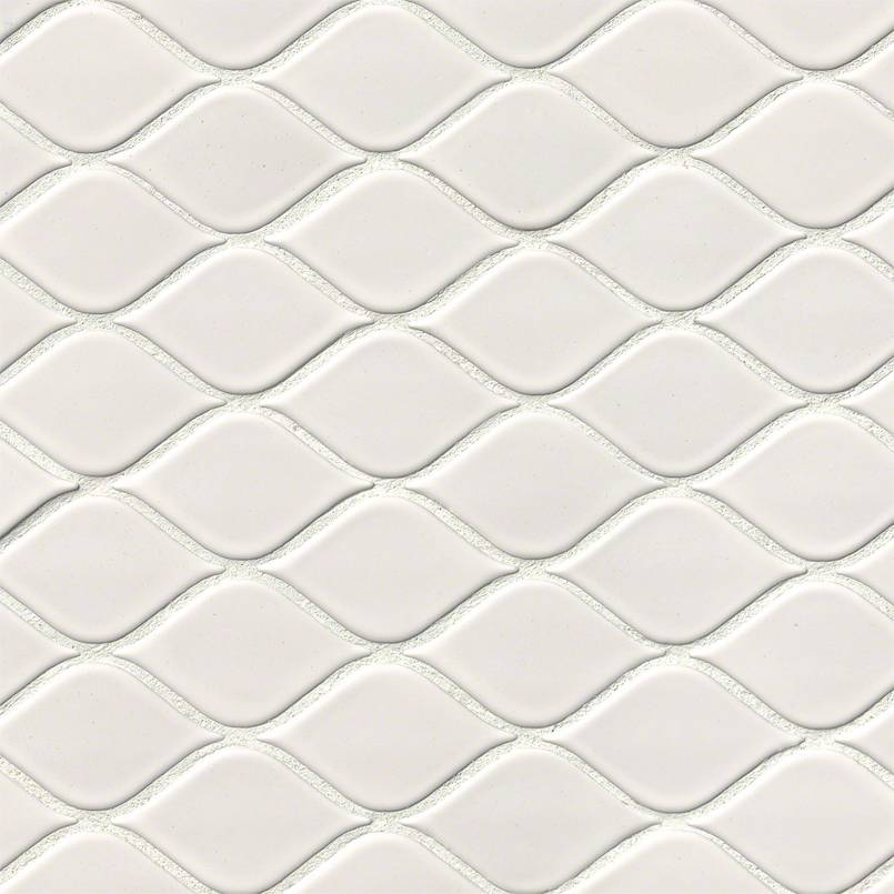 DECORATIVE MOSAICS, DOMINO COLLECTION, Tiles and Flooring msi-tiles-flooring-white-tear-drop-glossy-NWHITEARDROG