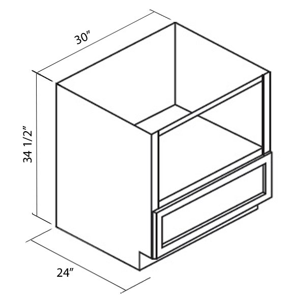Cabinets, GHI Arcadia White Shaker bathroom-cabinets-ghi-arcadia-white-shaker-microwave-base-cabinet-GMB30-ACW