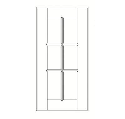 Cabinets, GHI Regal Oak bathroom-cabinets-ghi-regal-oak-mullion-door-for-gdcw2436-rgo-glass-not-included-GDC2436MD-RGO