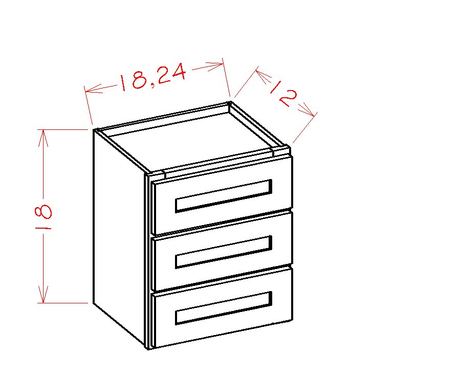 US Cabinet Depot Casselberry Saddle cabinets-us-cabinet-depot-casselberry-saddle-three-drawer-tower-stacking-cabinet-U-CS-W3D24