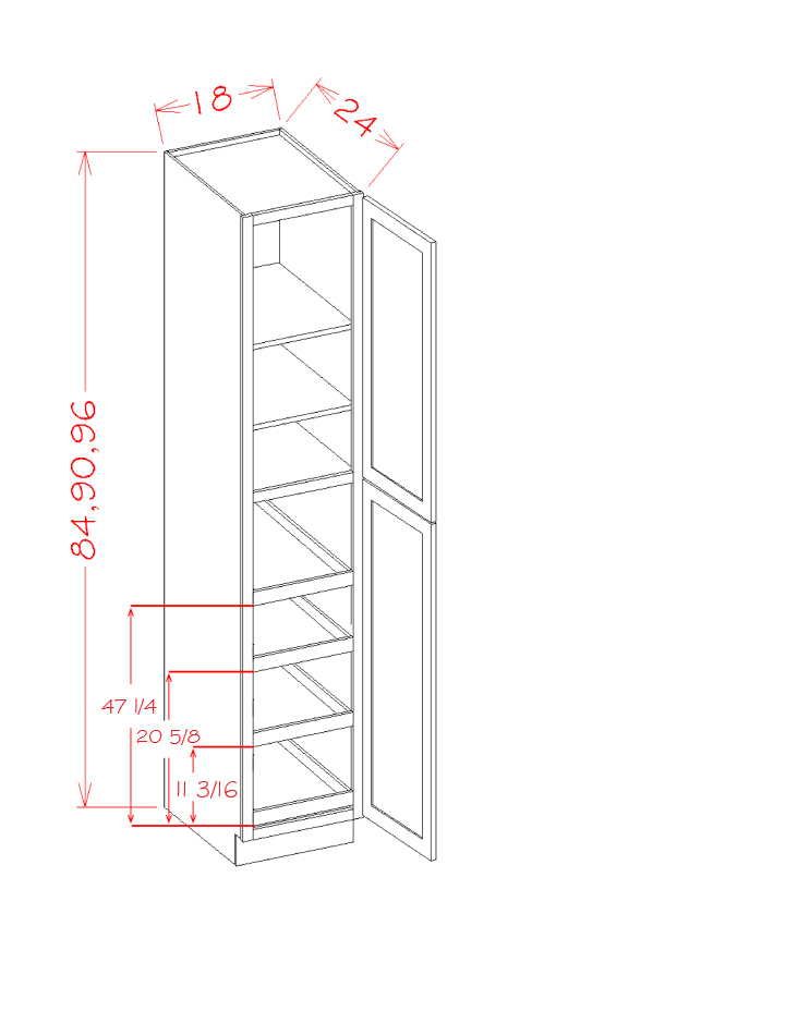 US Cabinet Depot Casselberry Saddle cabinets-us-cabinet-depot-casselberry-saddle-two-door-utility-four-rollout-shelf-cabinet-kit-U-CS-U1896244RS