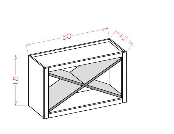 US Cabinet Depot Shaker Cinder cabinets-us-cabinet-depot-shaker-cinder-wall-open-cabinet-x-rack-insert-U-SC-WXRSHELF
