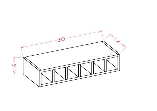 US Cabinet Depot Shaker Cinder cabinets-us-cabinet-depot-shaker-cinder-wall-cabinet-wine-cubby-U-SC-WWC630