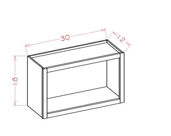 US Cabinet Depot Shaker Cinder cabinets-us-cabinet-depot-shaker-cinder-wall-open-cabinet-U-SC-WOC3018