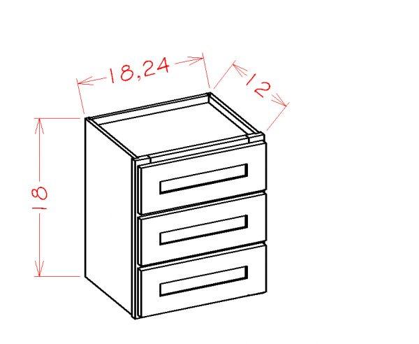 US Cabinet Depot Shaker Dove cabinets-us-cabinet-depot-shaker-dove-three-drawer-tower-stacking-cabinet-2-U-SD-W3D18