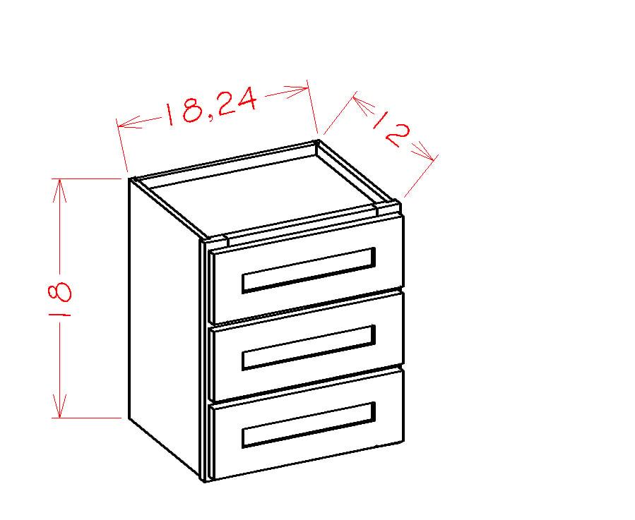 US Cabinet Depot Shaker Dove cabinets-us-cabinet-depot-shaker-dove-three-drawer-tower-stacking-cabinet-U-SD-W3D24