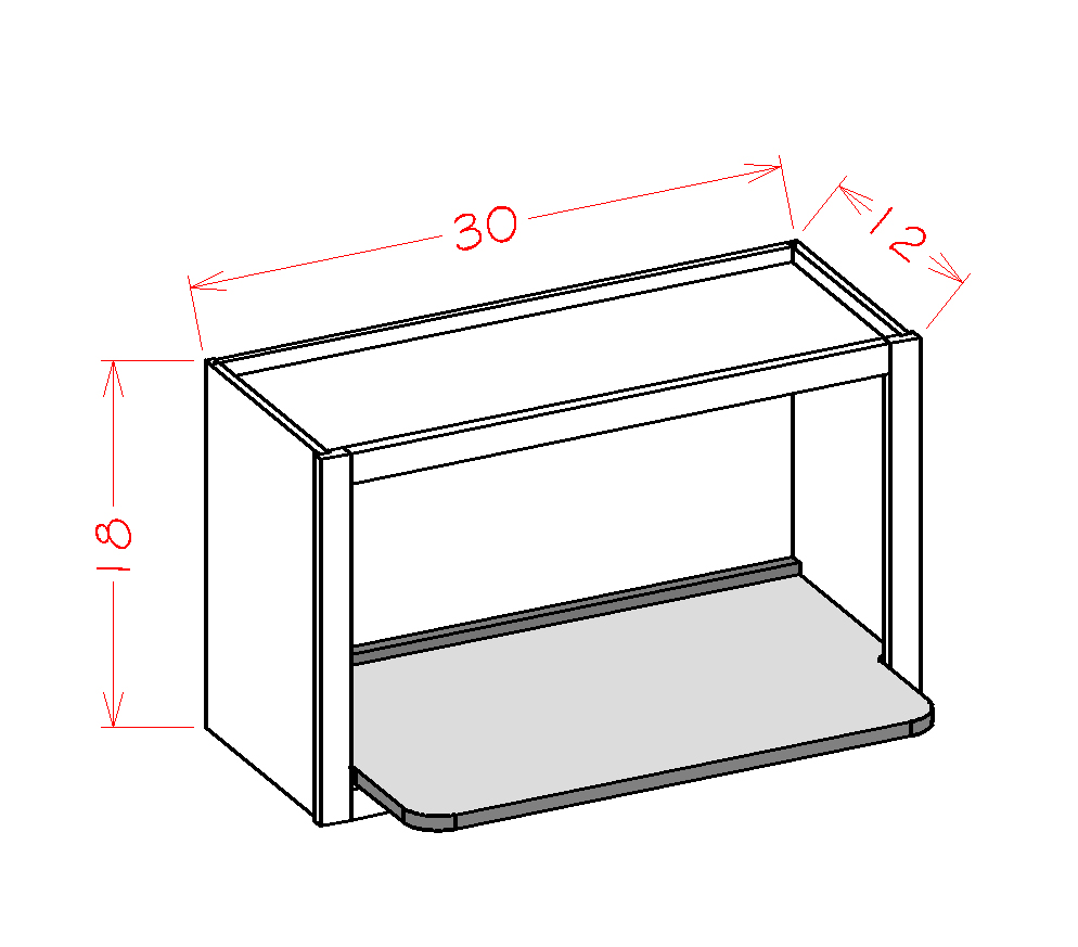 US Cabinet Depot Shaker Dove cabinets-us-cabinet-depot-shaker-dove-wall-open-cabinet-microwave-shelf-insert-U-SD-WMSSHELF