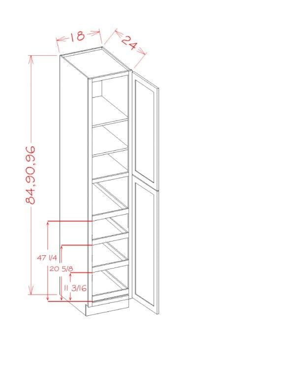 US Cabinet Depot Shaker Grey cabinets-us-cabinet-depot-shaker-grey-two-door-utility-four-rollout-shelf-cabinet-kit-2-U-SG-U1890244RS