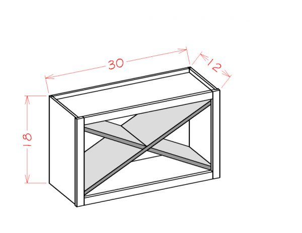 US Cabinet Depot Shaker White cabinets-us-cabinet-depot-shaker-white-wall-open-cabinet-x-rack-insert-U-SW-WXRSHELF