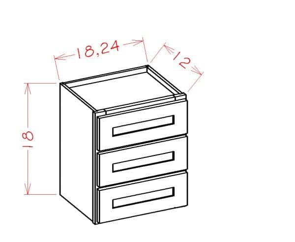 US Cabinet Depot Shaker White cabinets-us-cabinet-depot-shaker-white-three-drawer-tower-stacking-cabinet-2-U-SW-W3D18