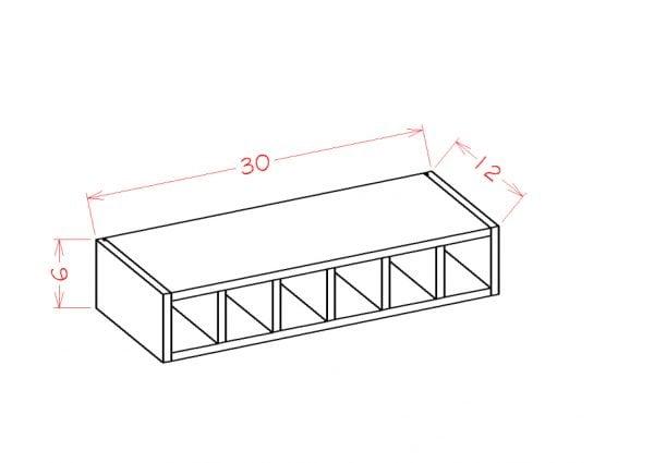 US Cabinet Depot Torrance Dove cabinets-us-cabinet-depot-torrance-dove-wall-cabinet-wine-cubby-U-TD-WWC630