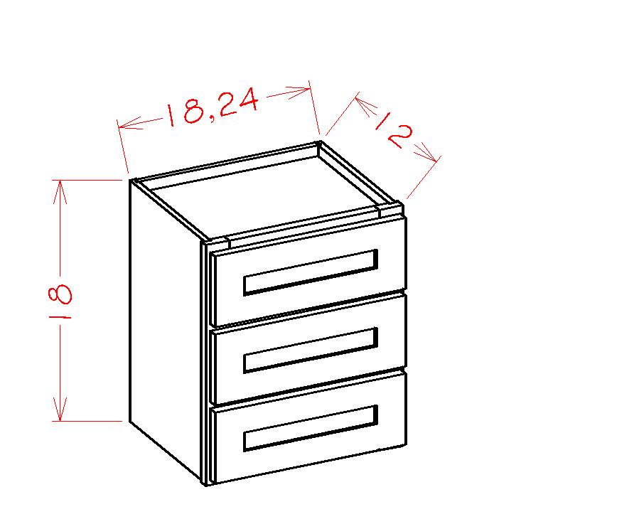 US Cabinet Depot Torrance White cabinets-us-cabinet-depot-torrance-white-three-drawer-tower-stacking-cabinet-U-TW-W3D24