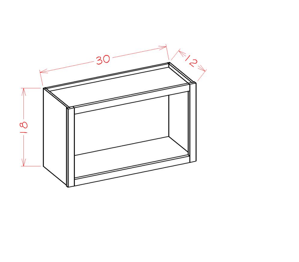 Cabinets, US Cabinet Depot Torrance Dove cabinets-us-cabinet-depot-torrance-dove-wall-accessory-cabinet-wall-open-cabinet-30w-x-12d-x-18h-U-TD-WOC3018