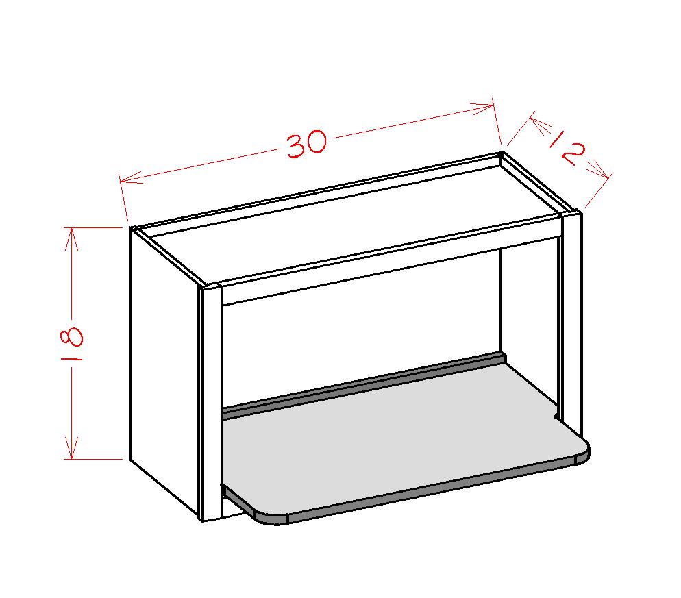 Cabinets, US Cabinet Depot Torrance Dove cabinets-us-cabinet-depot-torrance-dove-wall-accessory-cabinet-wall-open-cabinet-microwave-shelf-insert-30w-x-12d-x-18h-U-TD-WMSSHELF