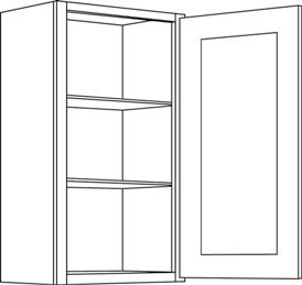 Cabinets, CNC Country Oak Hud -cnc-country-oak-hud-wall-cabinet-c1-2130-C1-2130