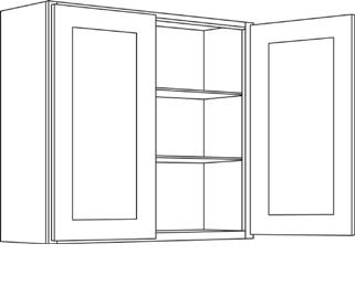 Cabinets, CNC Country Oak Hud -cnc-country-oak-hud-wall-cabinet-c1-4230-C1-4230