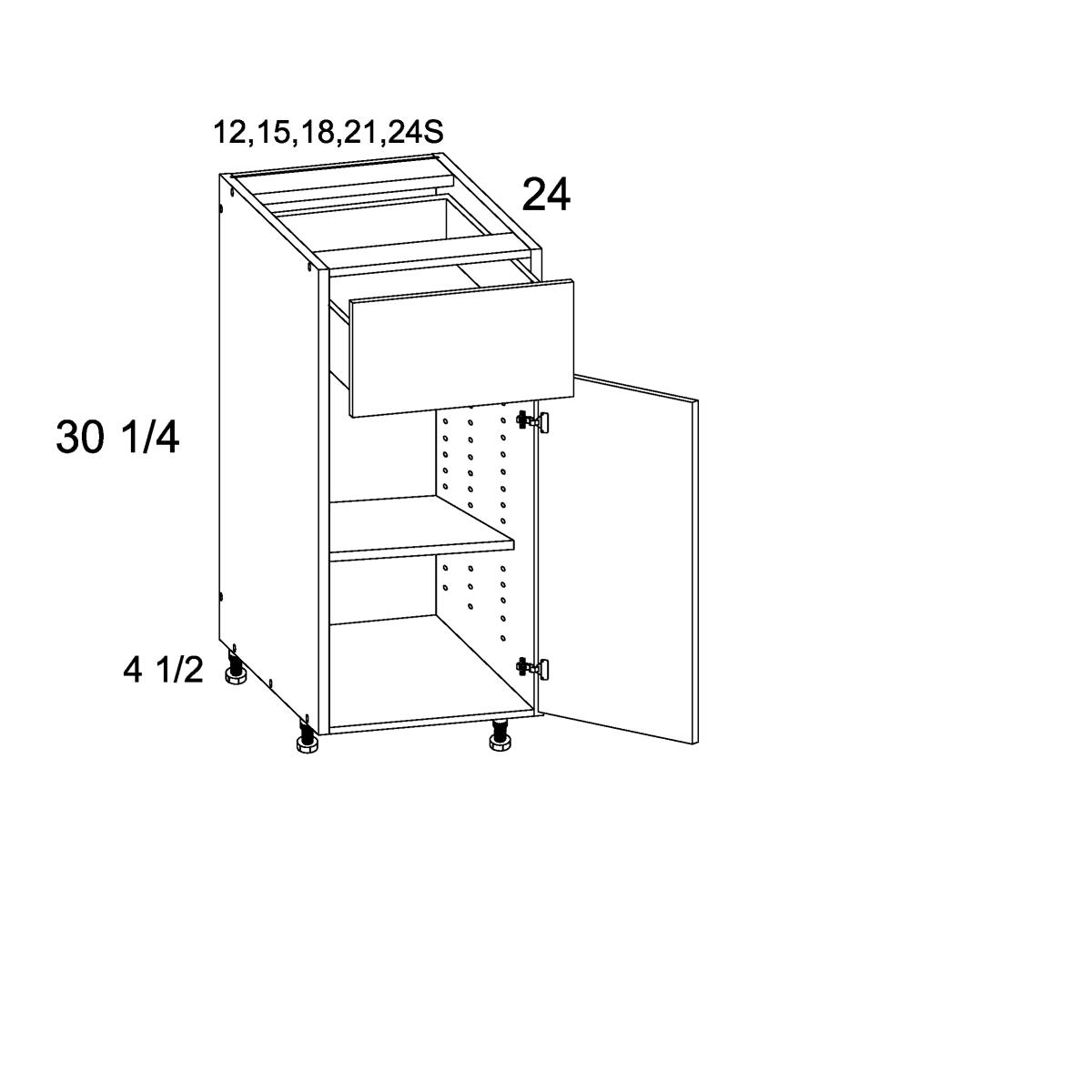 Cabinets, US Cabinet Depot Verona Midnight Navy cabinets-us-cabinet-depot-riviera-conch-shell-one-door-one-drawer-base-12w-x-24d-x-34-3-4h-RCS-B12