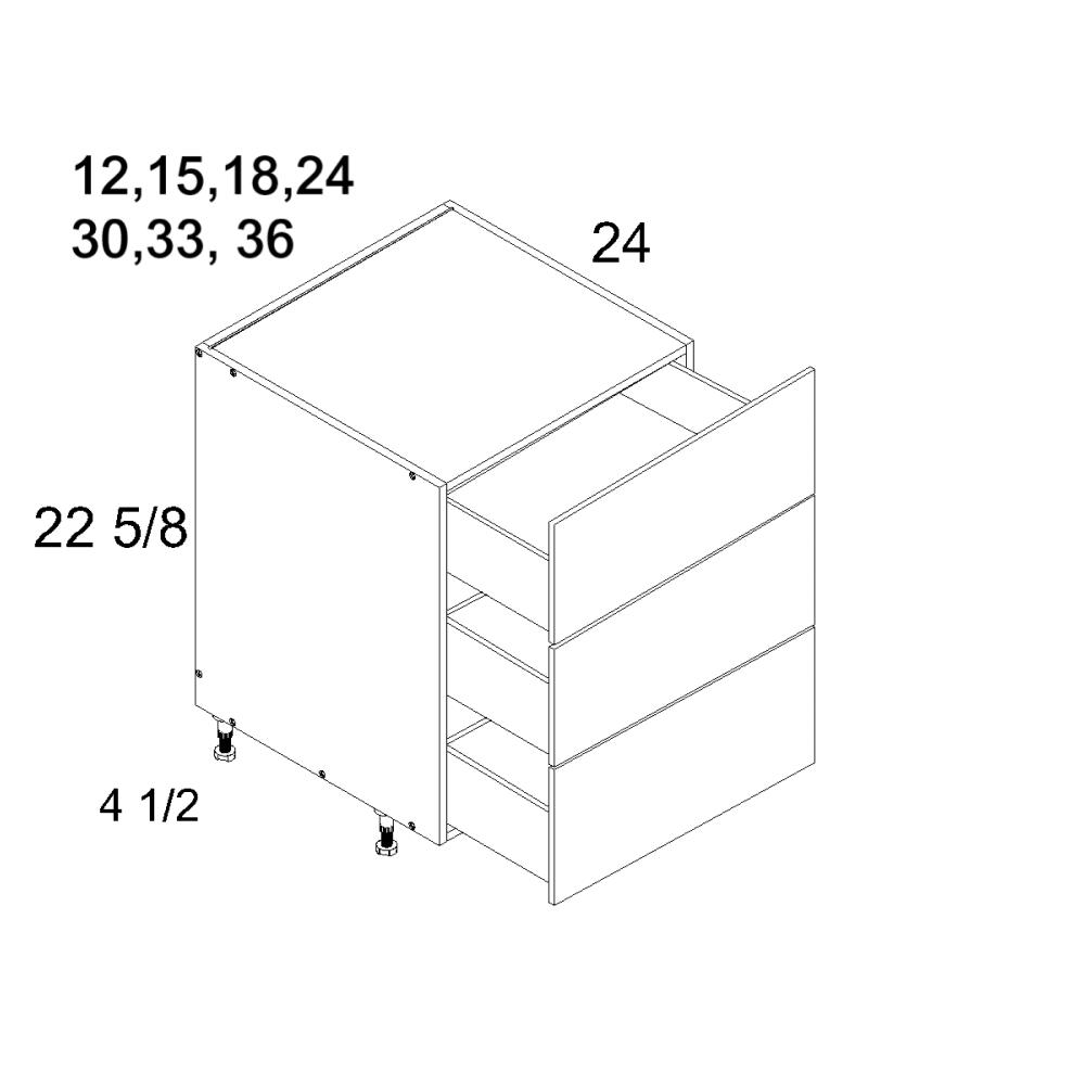 Cabinets, US Cabinet Depot Verona Midnight Navy cabinets-us-cabinet-depot-torino-dark-wood-three-drawer-desk-base-12w-x-24d-x-23h-TDW-DDR3DB12-BLUM